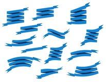 集合减速火箭的丝带和标签传染媒介例证 库存照片