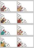 集合减速火箭的卡片 免版税库存照片