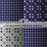 集合几何无缝的样式 库存照片