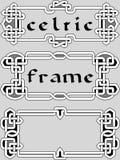 集合凯尔特框架设计的元素 免版税库存照片