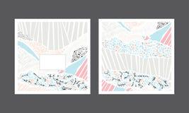 集合创造性的明信片 也corel凹道例证向量 免版税库存照片