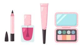 集合化妆用品的例证 免版税图库摄影