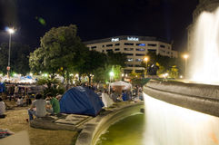 集合巴塞罗那卡塔龙尼亚广场 免版税库存图片