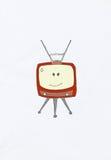 集合微笑的电视 皇族释放例证
