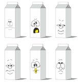 集合微笑的纸组装012 库存例证