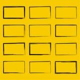 集合手拉的长方形 免版税图库摄影