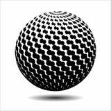 集合抽象中间影调3D spheres_20 库存图片