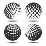 集合抽象中间影调3D spheres_26 图库摄影