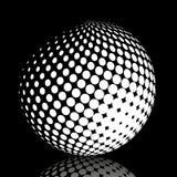 集合抽象中间影调3D spheres_21 免版税库存照片