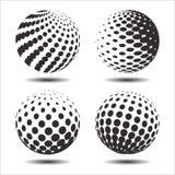 集合抽象中间影调3D spheres_24 免版税库存照片