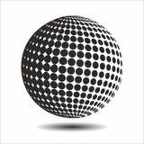 集合抽象中间影调3D spheres_16 库存图片