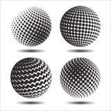 集合抽象中间影调3D spheres_25 库存图片