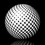 集合抽象中间影调3D spheres_17 库存图片