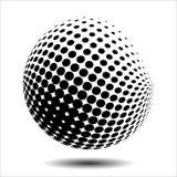 集合抽象中间影调3D spheres_18 图库摄影