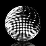 集合抽象中间影调3D spheres_19 库存图片