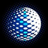 集合抽象中间影调3D spheres_30 免版税库存图片