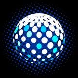 集合抽象中间影调3D spheres_28 免版税库存照片