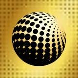集合抽象中间影调3D spheres_34 免版税库存图片