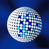 集合抽象中间影调3D spheres_31 库存照片