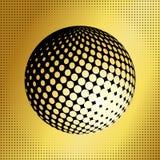 集合抽象中间影调3D spheres_37 免版税库存图片