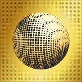 集合抽象中间影调3D spheres_38 免版税图库摄影