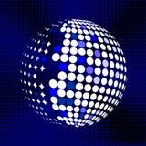 集合抽象中间影调3D spheres_27 免版税库存照片