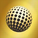 集合抽象中间影调3D spheres_33 免版税库存照片