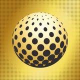 集合抽象中间影调3D spheres_41 图库摄影