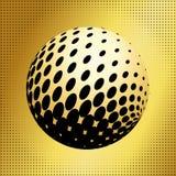 集合抽象中间影调3D spheres_35 免版税库存照片