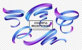 集合抽象五颜六色的波浪流程设计元素 也corel凹道例证向量 皇族释放例证