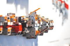 集合控制电子工厂线路面板切换 免版税库存照片
