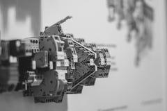 集合控制电子工厂线路面板切换 库存图片