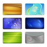集合摘要色的布背景 免版税库存图片