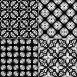 集合无缝的几何样式 免版税图库摄影