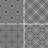 集合无缝的几何样式 库存照片