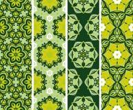 集合无缝的花卉desing的样式 免版税图库摄影