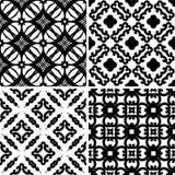 集合无缝的锦缎样式 图库摄影