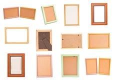 集合木制框架 库存图片