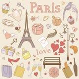 巴黎集合柔和的淡色彩 库存图片