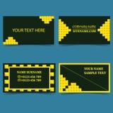 集合模板为事务,事务卡片现代设计 向量例证