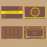 集合模板事务卡片现代设计 库存例证