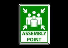 集合点区域紧急状态的标志标签 库存例证