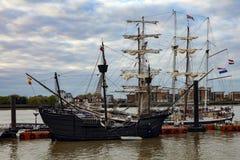 集合点高船赛船会2017年格林威治泰晤士河 免版税库存照片