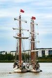 集合点高船赛船会2017年格林威治泰晤士河 图库摄影