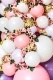 集合照片从球和花的 免版税库存照片