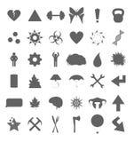 集合符号多种 免版税库存图片