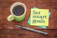 集合聪明的目标-稠粘的笔记概念 免版税库存图片