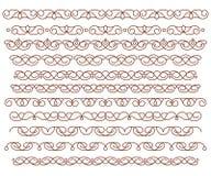 集合装饰边 传染媒介装饰元素 browne 库存例证