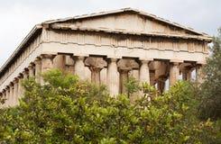 集市古老雅典hephaistos寺庙 免版税库存图片