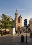 集市广场和圣Marys教会 图库摄影